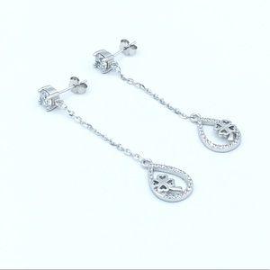 Jewelry - 🍀925 SS Clover Dangling Stud Earrings🍀